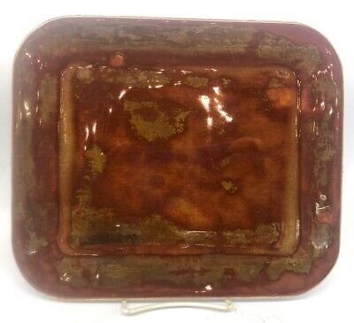 *NEW* Good Earth Pottery - Cinnabar Large Rectangle Plate