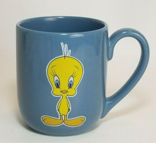 Vintage 1996 Warner Bros. Studio Store Tweety Bird Cartoon Blue Coffee Mug Cup