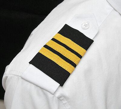 Aero Phoenix Professional Pilot Uniform Epaulets -Three Gold Bars -First Officer (Pilot Uniform)