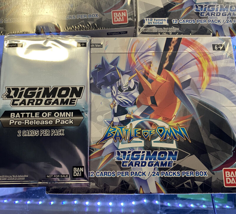 IN HAND Digimon CCG Battle of Omni Booster Box (SEALED BOX + PRERELEASE PACK)