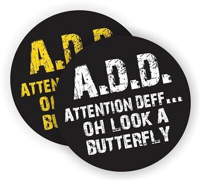 Funny Add Attention Deficit Hard Hat Stickers Decals Label Helmet Welder Welding