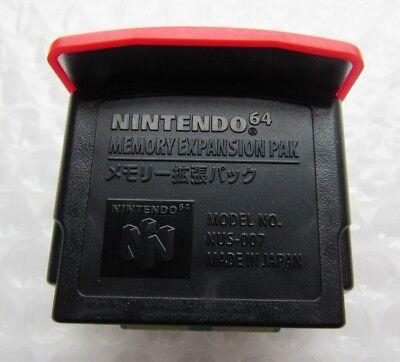 OEM Nintendo 64 Expansion Pack Original Memory Ram Official Red Pak Graphics N64