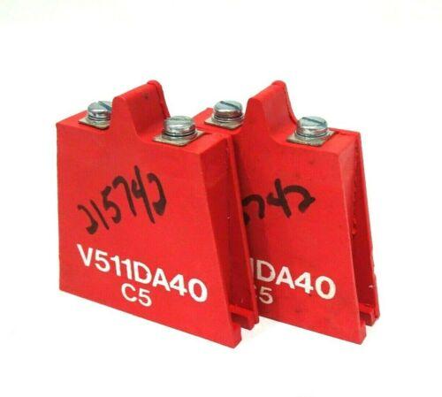 2 NEW LITTELFUSE V511DA40 C5 VARISTOR