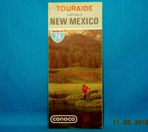 1974 CONOCO Gas Station HIGHWAY ROAD MAP / New Mexico
