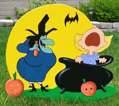 lawn art Halloween Sally Brown Peanuts and Charlie Brown yard decor decorations - Yard Art Halloween Decorations