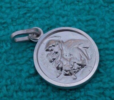 St Saint Anthony Sterling Silver 925 Catholic Pendant