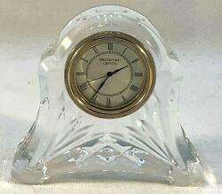 Vintage Waterford Crystal Small Desktop Quartz Clock