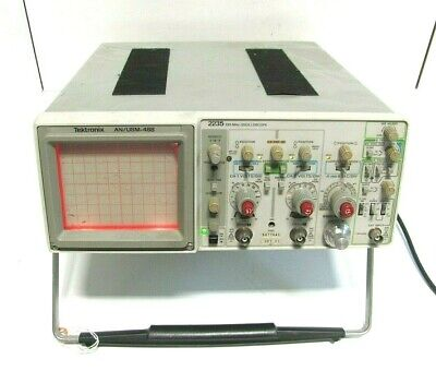 Tektronix 2235 Anusm-488 100mhz Two Channel Oscilloscope As Is