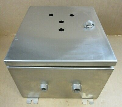 1 New Stainless Steel Custom Enclosure Box 16 Tall X 14 Wide X 9 Deep 6 Avail