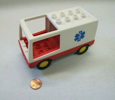 Lego Duplo 1994 AMBULANCE for Hospital Doctor VEHICLE #2682 Vintage Excellent