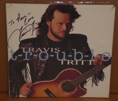Travis Tritt hand signed autographed 12 x 12 lp record album flat