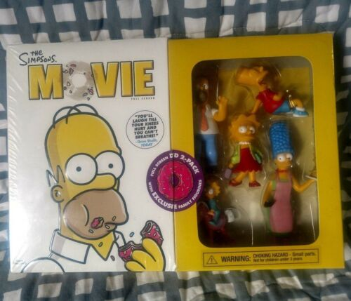 The Simpsons Movie FS DVD Sealed Exclusive Bonus Family Figurines Set Bart Lisa