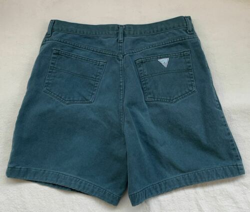 Vintage 80s GUESS Teal Shorts - High Waist - Size 36