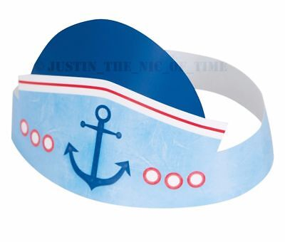 Nautical 1st Birthday Party Hats 6 Count (Nautical Birthday Hat)