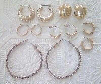 gold tone twisted hoop earrings. 6 pair. Beautiful! Just look!!! Gold Tone Twisted Earrings