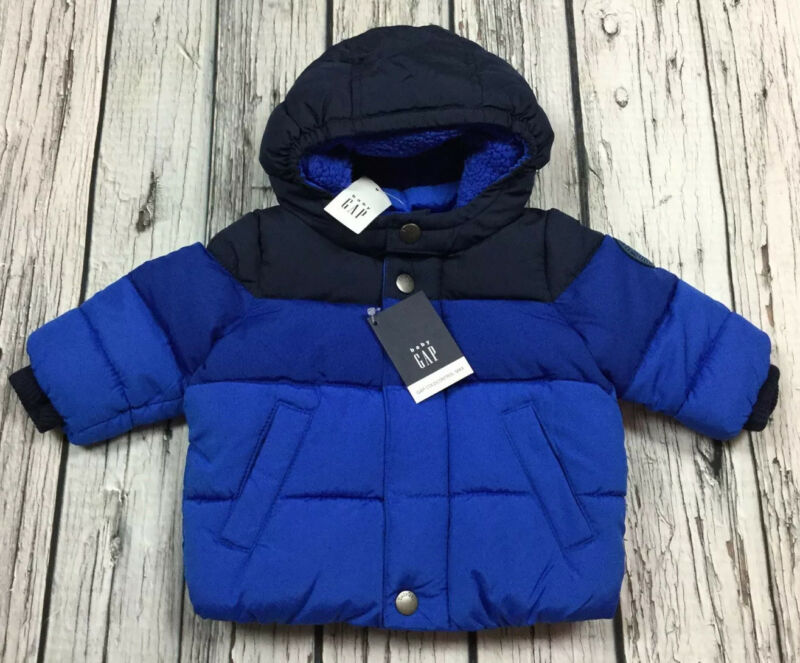 Baby Gap Boys 0-6 Month Blue Coat Gap Coldcontrol Winter Coat. Nwt