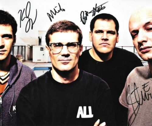 * DESCENDENTS * signed 8x10 photo * MILO AUKERMAN, STEPHEN, KARL & BILL * 4