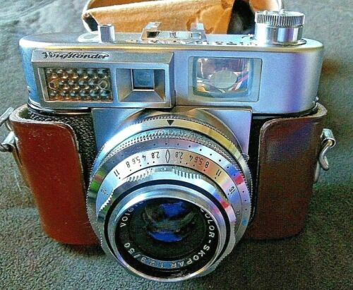 Voigtlander Vitomatic II Rangefinder Camera COLOR SKOPAR 1:2.8 lens / 50 WORKS