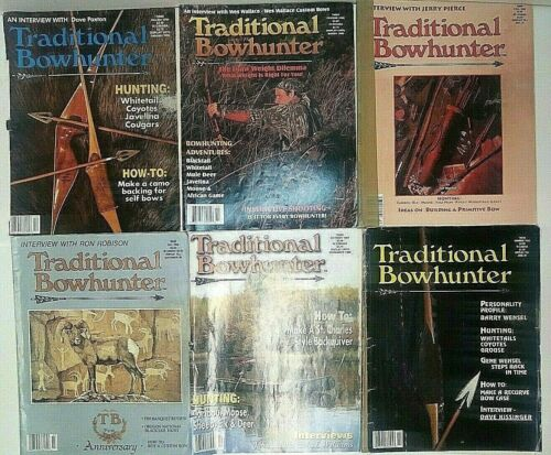 Lot of 6 Traditional Bowhunter Magazine Back issues