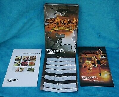 Insanity Workout Complete 13 DVD Box Set with Tracker and Elite Nutrition Book