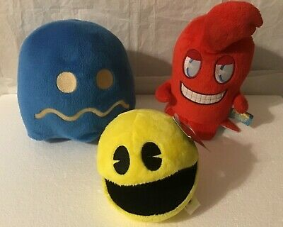 Pac-man battle royale & ghostly adventures plushes, lot of 3