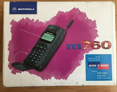 MOTOROLA MICROTAC M760 FLIP PHONE *BOXED* (CLASSIC VINTAGE COLLECTABLE)