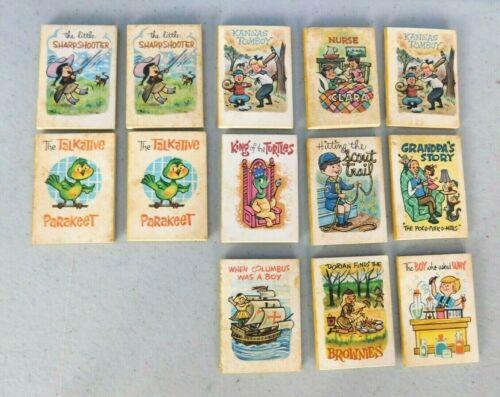 VINTAGE CRACKER JACK PRIZES, 1968 MINIATURE STORY BOOKS, SET OF 13 MISC BOOKS