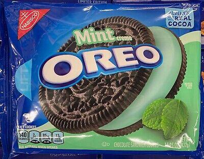 NEW NABISCO OREO MINT CREME CHOCOLATE SANDWICH COOKIES 15.25 OZ PACK FREE SHIPIN](Oreo Mint)