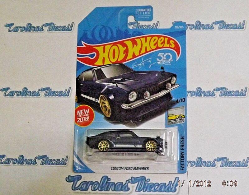 2018 Hot Wheels 219 Dark Blue Custom Ford Maverick N4