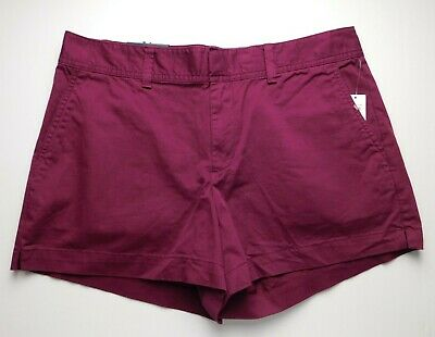 "NWT Gap Women's Berry Khaki 3"" City Shorts Sizes 0 4 10 18 MSRP$35 New"