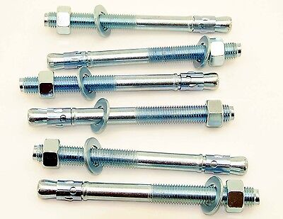 (6) Concrete Wedge Anchor Bolts 3/4 x 8-1/2 Includes Nuts & Washers