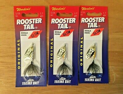 Sonic Rooster Tail Spinners 2 x Yakima Bait 1//4 oz Wordens New CHMY