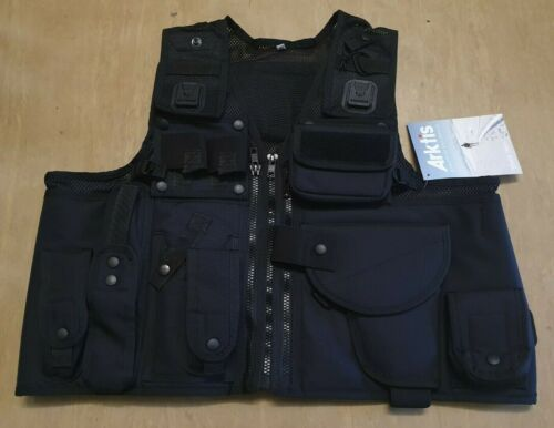 NEW Arktis Ex Police Issue Tactical Black Tactical Baton Taser Tactical Vest UK