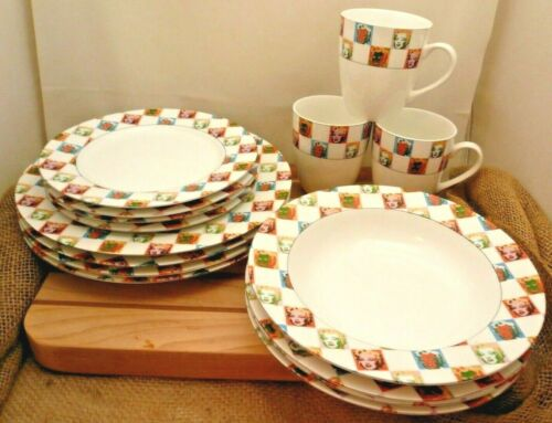 Block China Marilyn Monroe 15 PC Dish Set Andy Warhol, 4 Place Settings less one