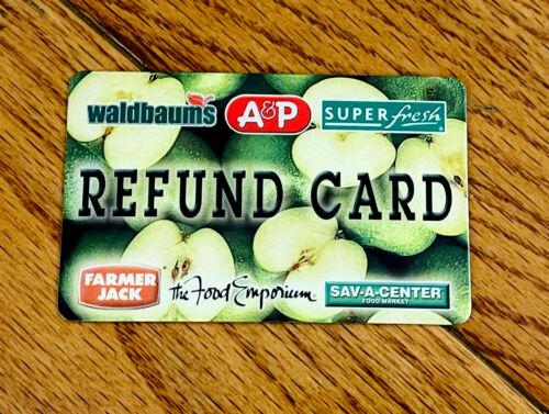 Waldbaums A&P Super Fresh Farmer Jack Refund/Gift Card $0 NO VALUE & EMPTY