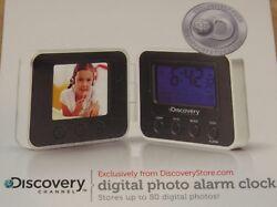 Discovery Channel Digital 80 Photo Travel Alarm Clock Calendar Thermometer NIB