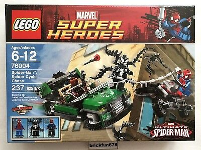 Lego Superheroes 76004 Spider-Man Spider-Cycle Chase set Venom New Factory Box