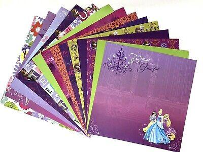 12X12 Scrapbook Paper lot 14 Sheets Disney Princess Prints Card Making L63 Disney Princess 12x12 Paper