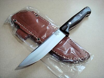 """New Bark River Knives Gunny Vortex Jimped Fixed 4.7"""" A2 Tool Steel Red Liners"""