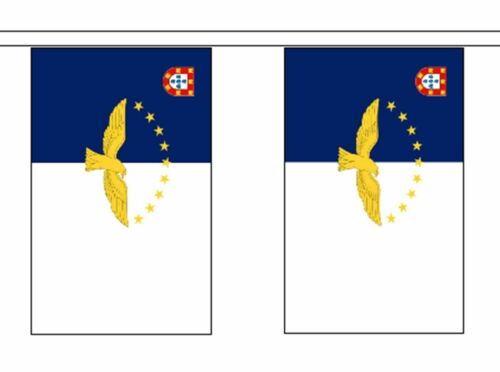 Azores Portugal Flag Polyester Bunting - Premium Quality