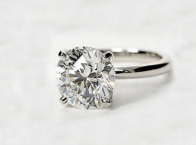 4.3 Round Cut Diamond Solitaire Engagement Ring Enhanced VS1/F 14K White Gold