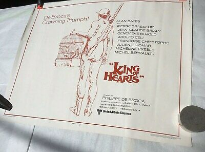 King Of Hearts 1978 Movie Poster Untited Artist 27 3/4 X 22 De Brocas Crowning  - King Of Hearts Crown