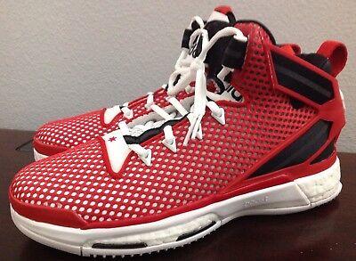 best website 4a160 203c6 Adidas D Rose Boost GS Basketball shoes ART AQ8722 RedBlack White Size  7 New
