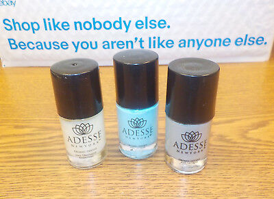 3 Adesse Organic Products Deception~Surfer Girl~Base Nail Treatment  **NO BOX**, used for sale  USA