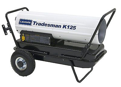 Lb White Tradesman K125 Heater 125000 Btuh Kerosene 1 Or 2 Fuel