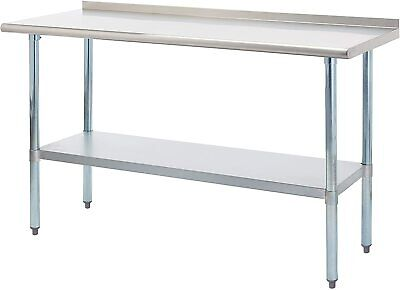 Rockpoint Carmona Tall Nsf Stainless-steel Commercial Kitchen Work Table 60x24in