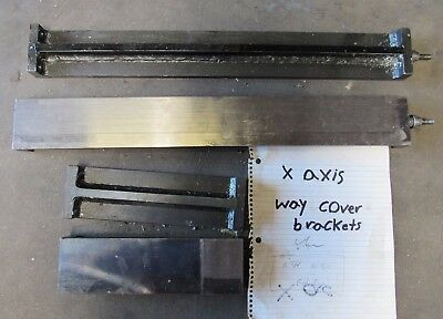 4 Pcs X Axis Way Cover Brackets From Kitamura Mycenter H400 See Pics