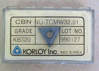 1 Piece Korloy Insert Cbn Nu-tcmw32.51 Grade Kb320