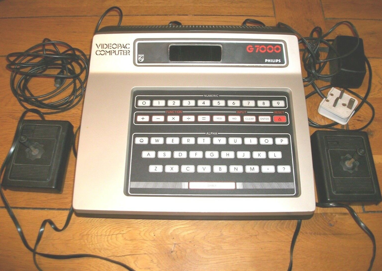 retro computer games - Philips G7000 Videopac computer games console retro vintage 1978 good condition
