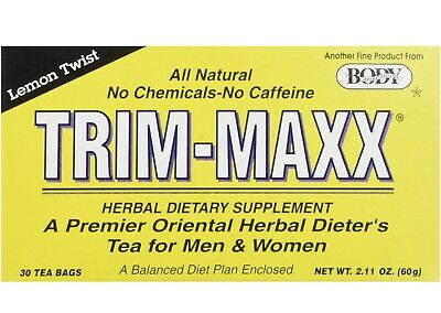 BODY BREAKTHROUGH TRIM-MAXX TEA LEMON Trim-maxx Dieter's tea 30 tea Bags (Maxx Trim)